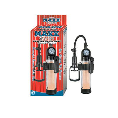 Maxx Gear Vibrating Vacuum Gauge Penis Pump Clear