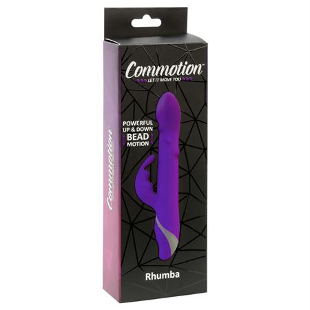 Commotion Rhumba Up and Down Motion 7 Function Waterproof Rechargable Plum