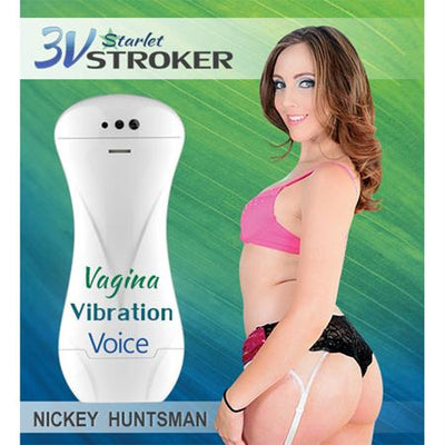 3v Talking and Vibrating Starlet Stroker Nickey Huntsman