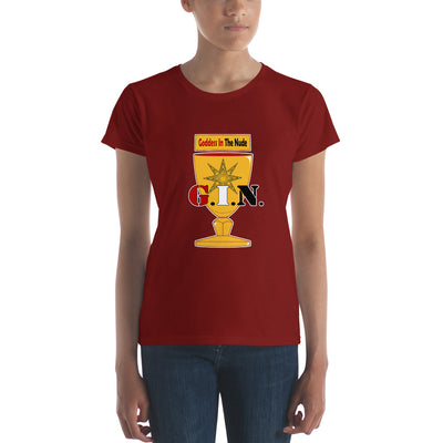 GINHOLYDEN.COM / G.I.N. Goddess In The Nude Women's t-shirt