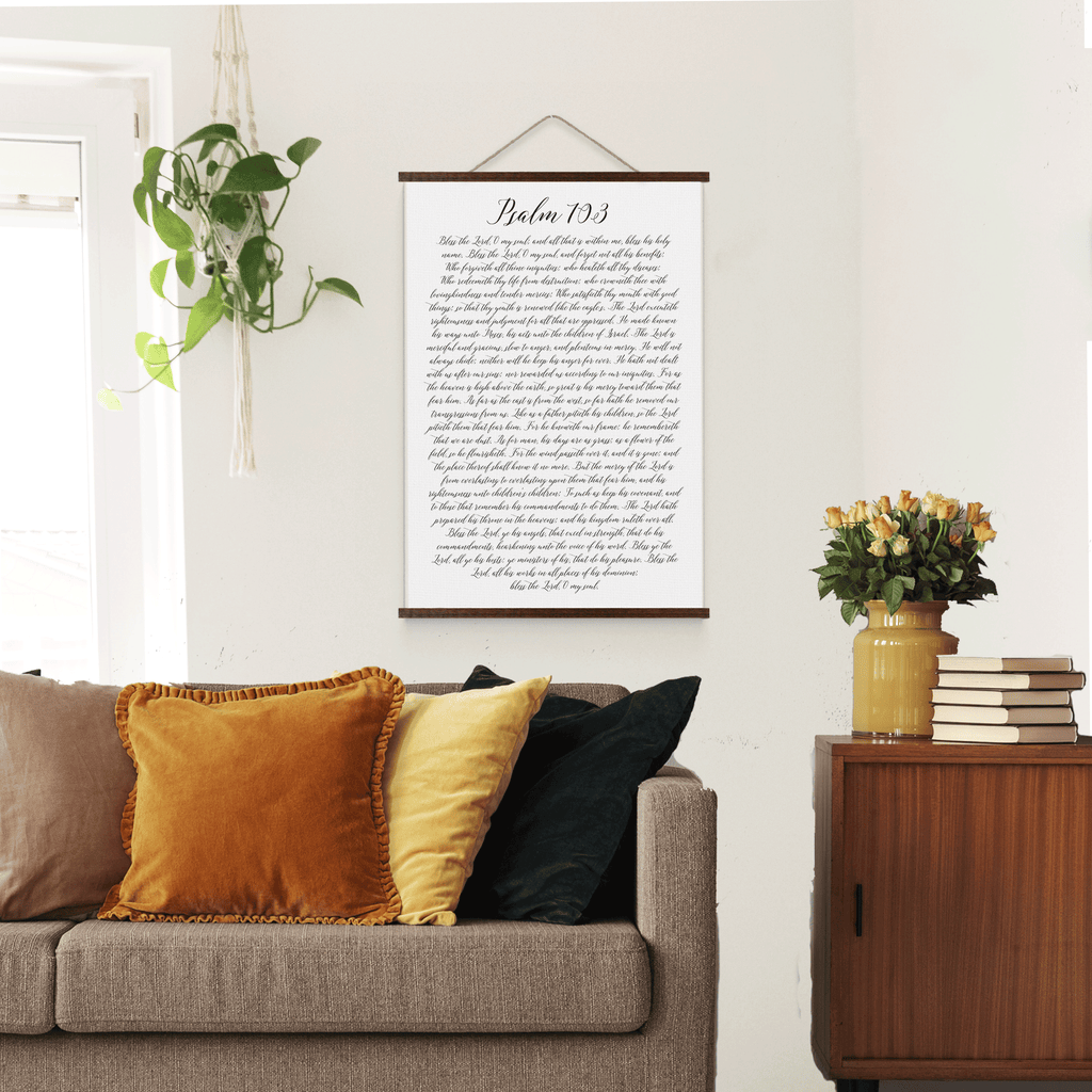 Psalm 103 Scripture Hanging Canvas