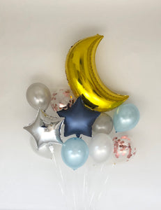 Sweet Moon 11 Piece Party Decoration Set - Blue