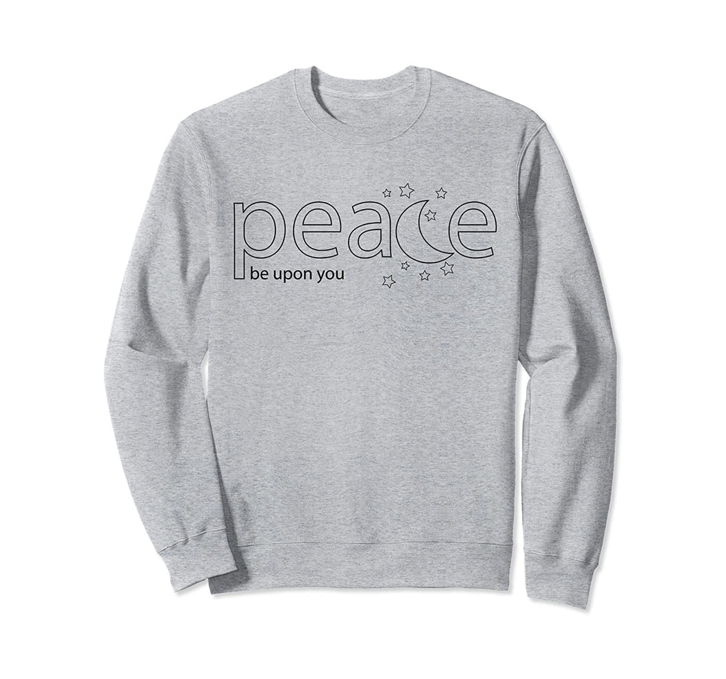 Sweet Moon -Peace be Upon You- Ramadan Sweatshirt