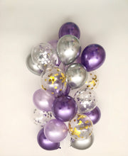 Load image into Gallery viewer, Sweet Moon 24 Piece Moon and Star Balloons Bouquet (Purple)