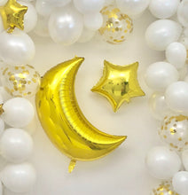 Load image into Gallery viewer, Sweet Moon DIY 16-Feet Crescent and Star Balloon Arch and Garland Set (White)