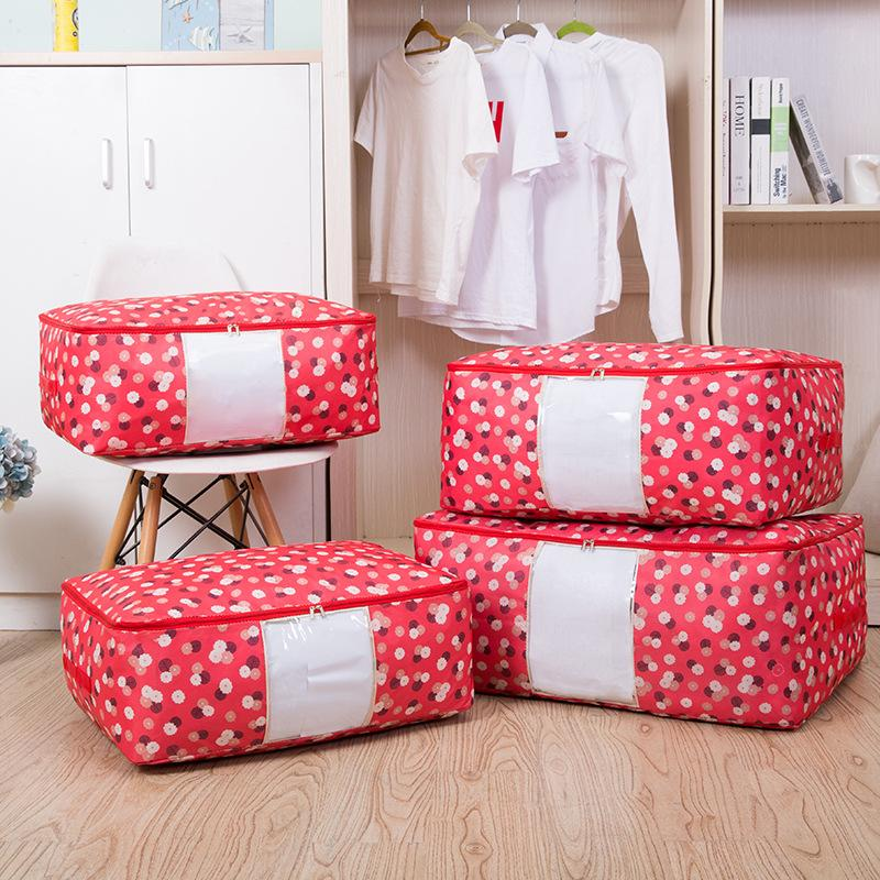 👍Household Necessities-🔥Large Capacity(2PCS)🔥-Washable Portable Storage Container Clothes Quilts Storage Bags
