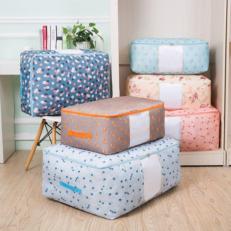 #Christmas Sale!-Large Capacity-Washable Portable Storage Container Lovely Print Oxford Clothes Quilts Storage Bags
