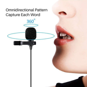 Microphone - Professional Grade Studio Quality Clip-On Mic