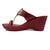 maroon kolhapuri wedges,heels handmade footwear for women