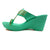 CONSTELLATION LIGHT GREEN KOLHAPURI WEDGES