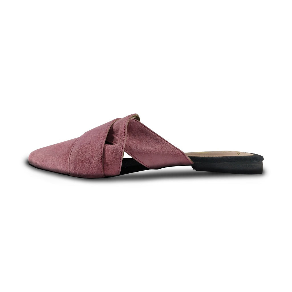Sweet no Sugar! Suede Leather Mules