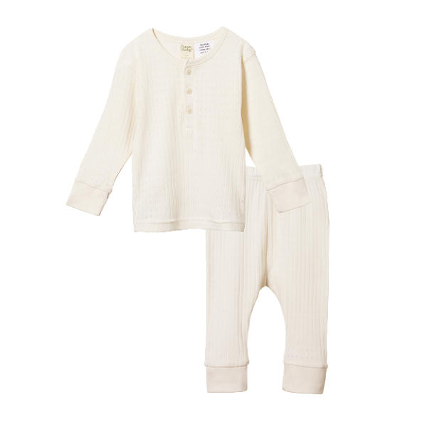 Nature Baby 2pc Pointelle Pyjamas | White Fox & Co