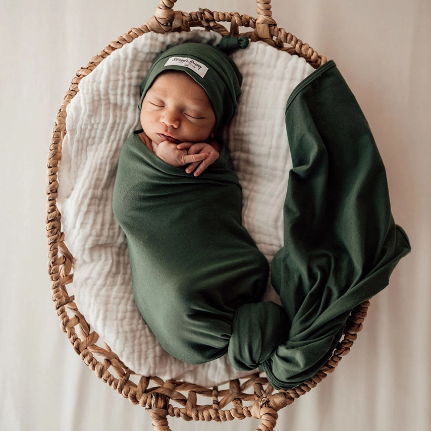 Snuggle Hunny Kids | Baby Jersey Wrap | Olive | White Fox & Co