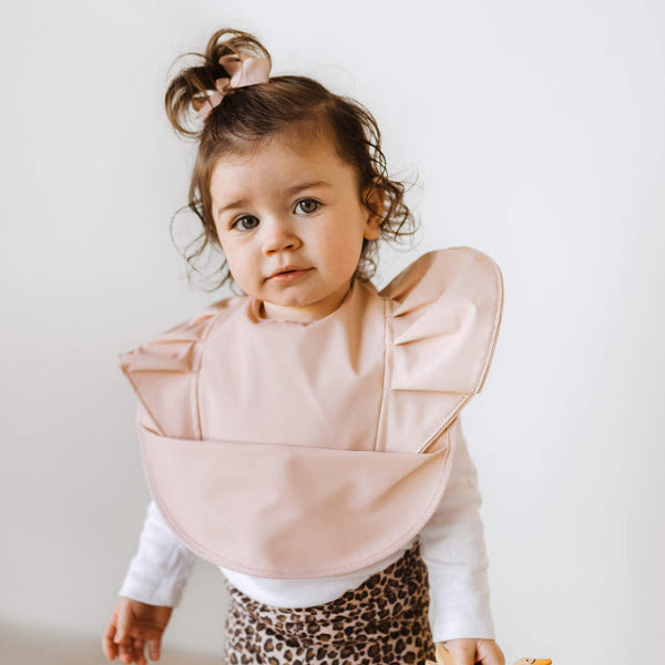 Snuggle Hunny Kids | Waterproof Bib | Nude | White Fox & Co