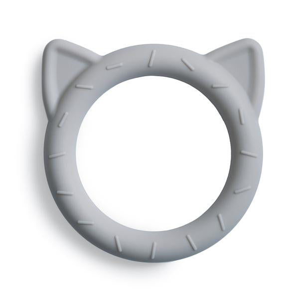 Mushie | Cat Teether | Stone | White Fox & Co