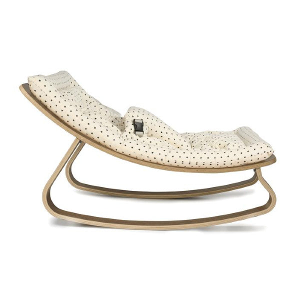 Charlie Crane | Levo Rocker | Walnut Bonton cushion | White Fox & Co