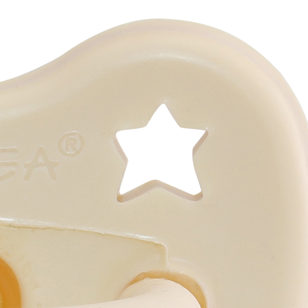 Hevea | Round Pacifier | Milky White | White Fox & Co