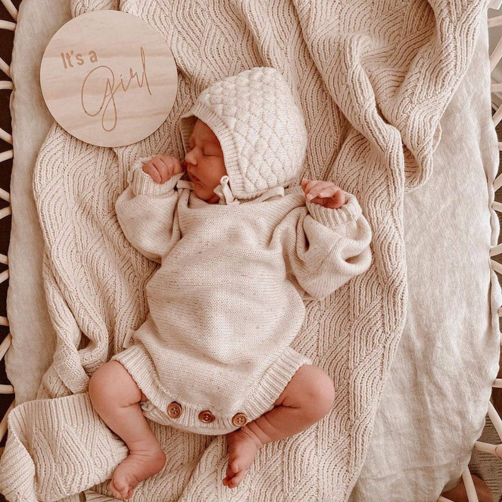 Hello Fern | It's a Girl | Classic Disc | White Fox & Co