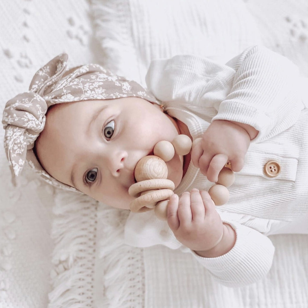 My Little Giggles | Ring Teether | Oatmeal | White Fox & Co