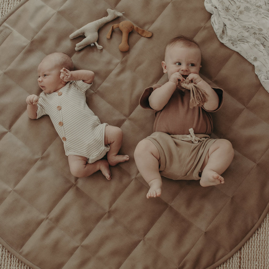 Quilted Play Mat | Tan