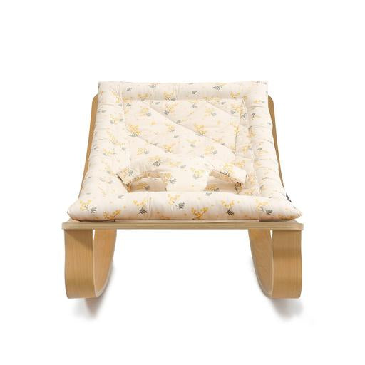 Charlie Crane Levo Baby Rocker | Beech with Mimosa Cushion