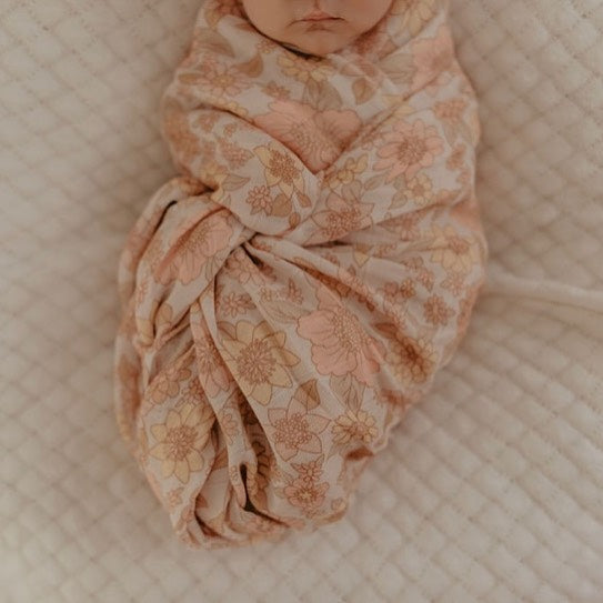 Mae + Rae | Floral Bamboo Swaddle | White Fox & Co