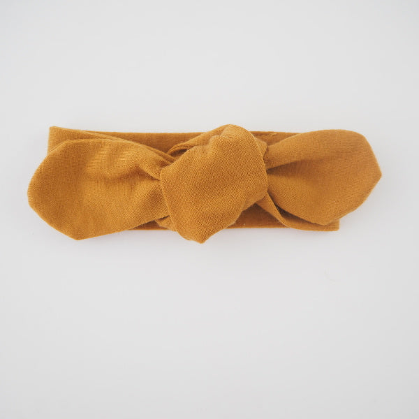Snuggle Hunny Kids | Topknot Headband | Mustard | White Fox & Co