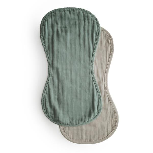 Mushie | Burp Cloths | Green / Fog | White Fox & Co