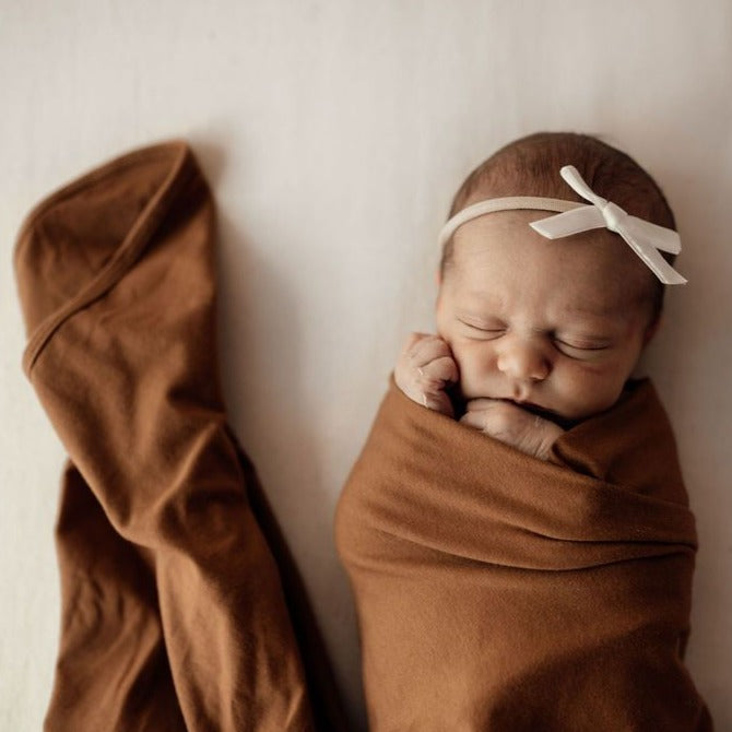Snuggle Hunny Kids | Baby Jersey Wrap | Bronze | White Fox & Co
