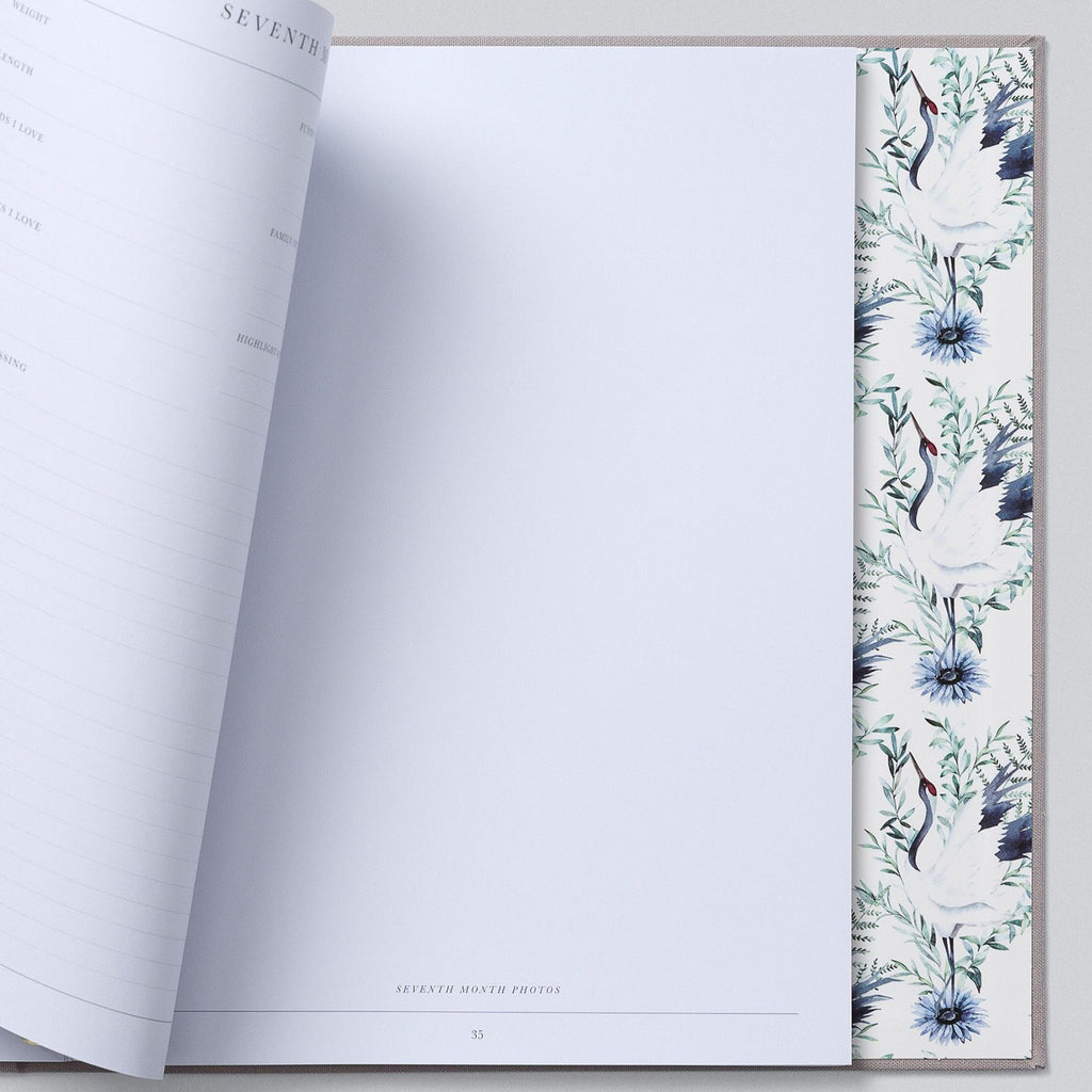 Write To Me | Baby Boxed Book | Grey | White Fox & Co