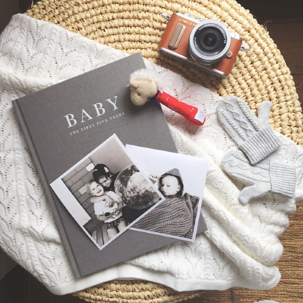 Write to Me | Baby Journal | First Five Years | Grey | White Fox & Co