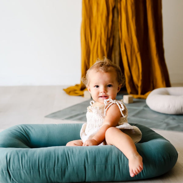 Snuggle Me Organic | Infant Lounger | Bare Moss | White Fox & Co