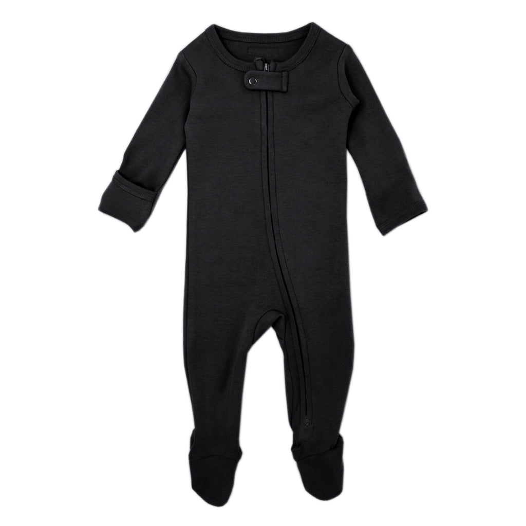 lovedbaby | Organic Zipped Overall | Black | White Fox & Co