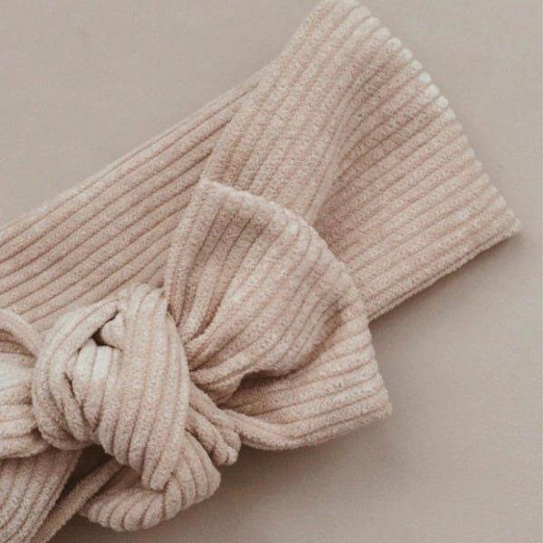 Cord Topknot | Beige Brown
