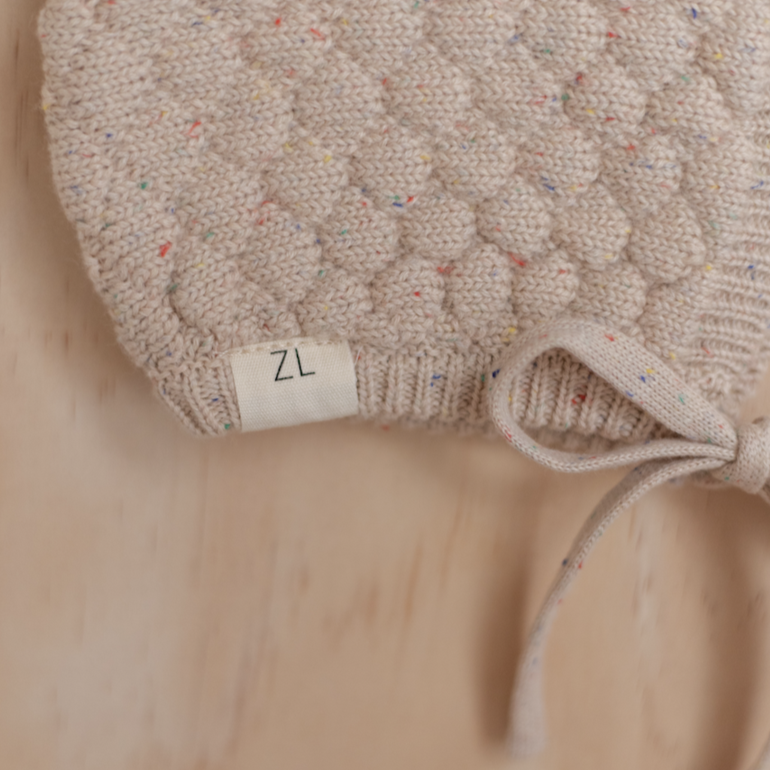 Caramel Fleck | Newborn | Bonnet | Ziggy Lou | White Fox & Co