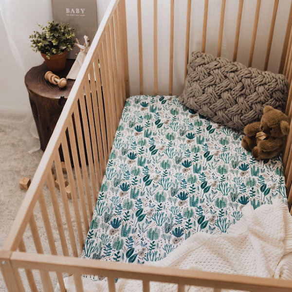 Snuggle Hunny Kids | Arizona | Cot Sheet | White Fox & Co