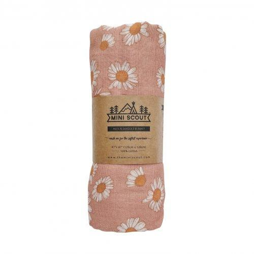 The Mini Scout | Swaddle | Daisy | Blush Pink