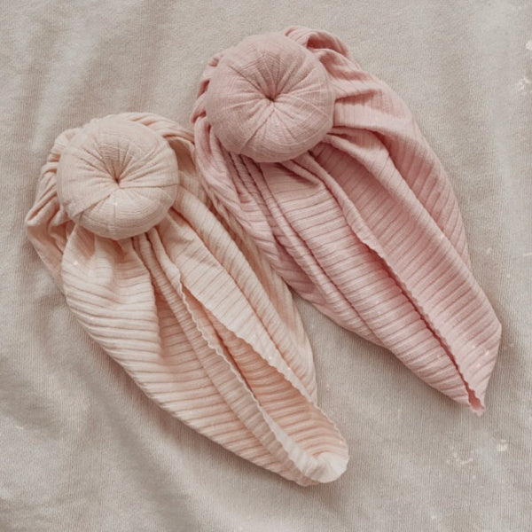 Mae + Rae | Ribbed Turban | Dusty Pink | White Fox & Co