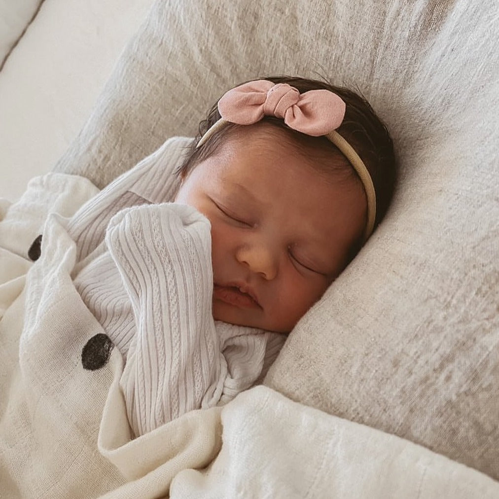 Mae + Rae | Bow Headband | Dusty Pink | White Fox & Co