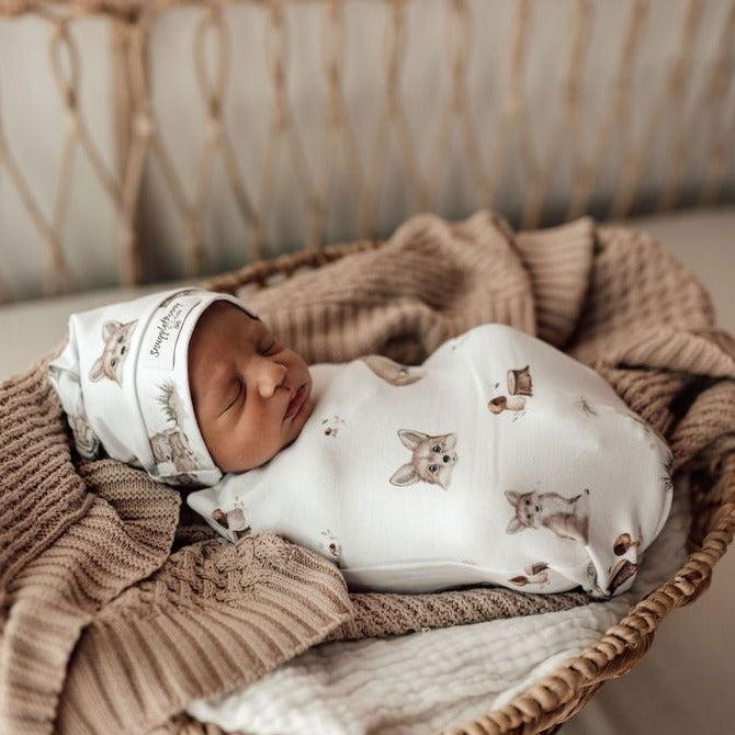Snuggle Hunny Kids | Fox Snuggle Swaddle | White Fox & Co