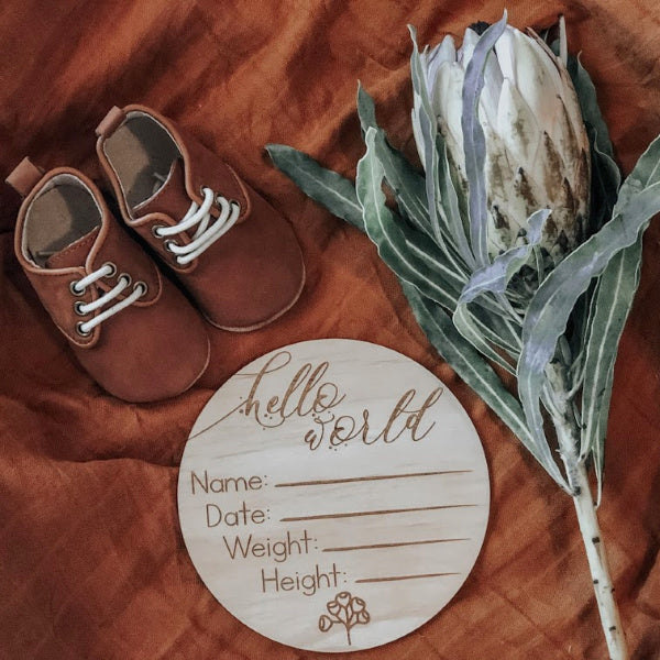 Hello Fern | Australiana | Birth Annoucement | White Fox & Co