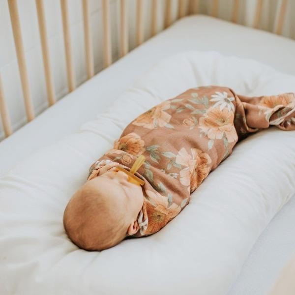 The Mini Scout | Swaddle | Peony Blooms | Clay | White Fox & Co