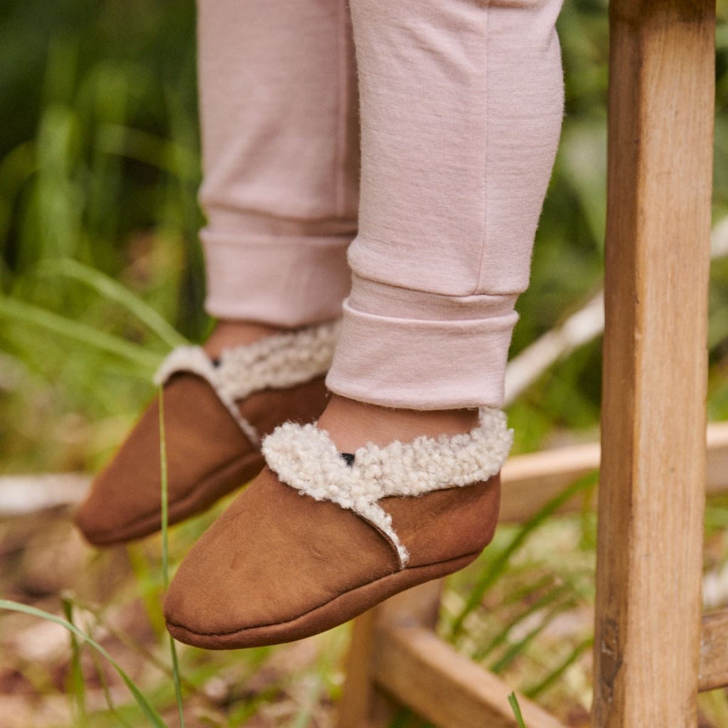 Lambskin Booties | Cinnamon