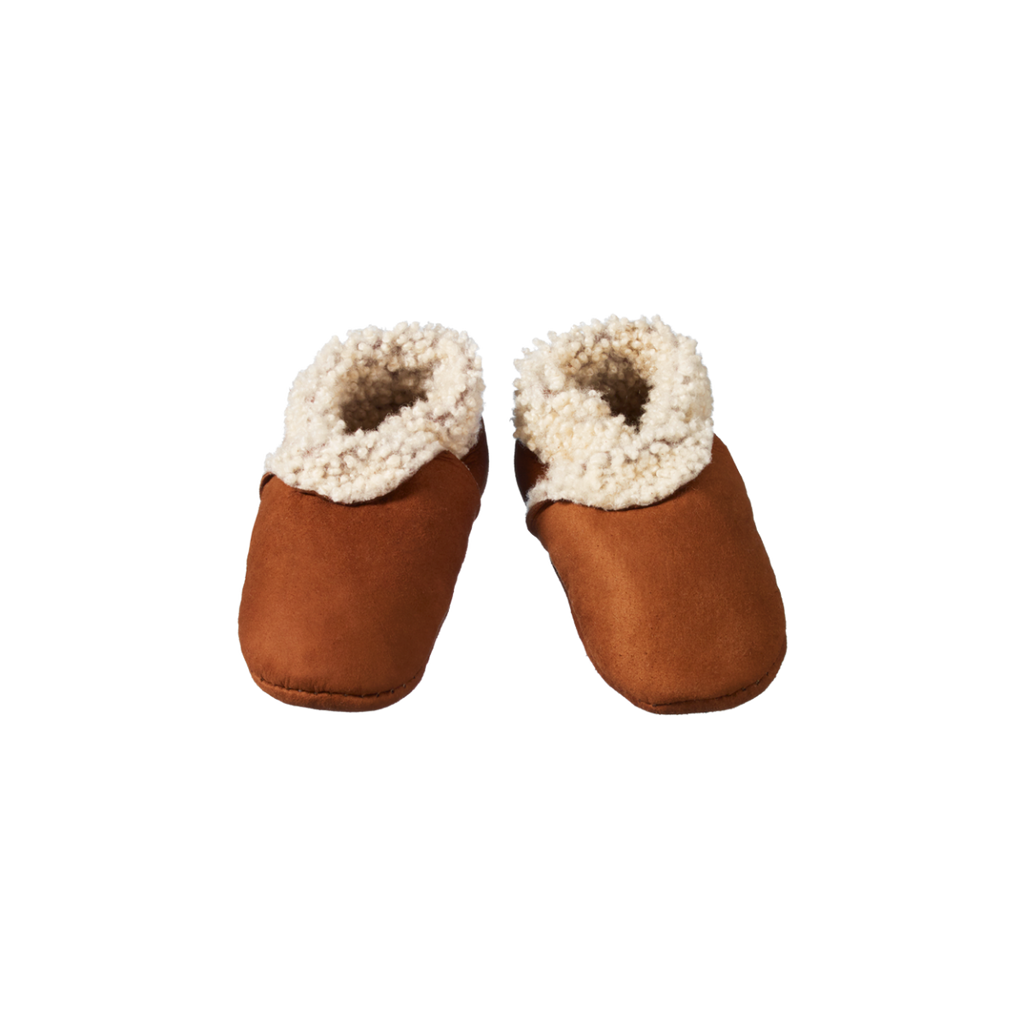 Nature Baby | Lambskin Booties | Cinnamon | White Fox & Co