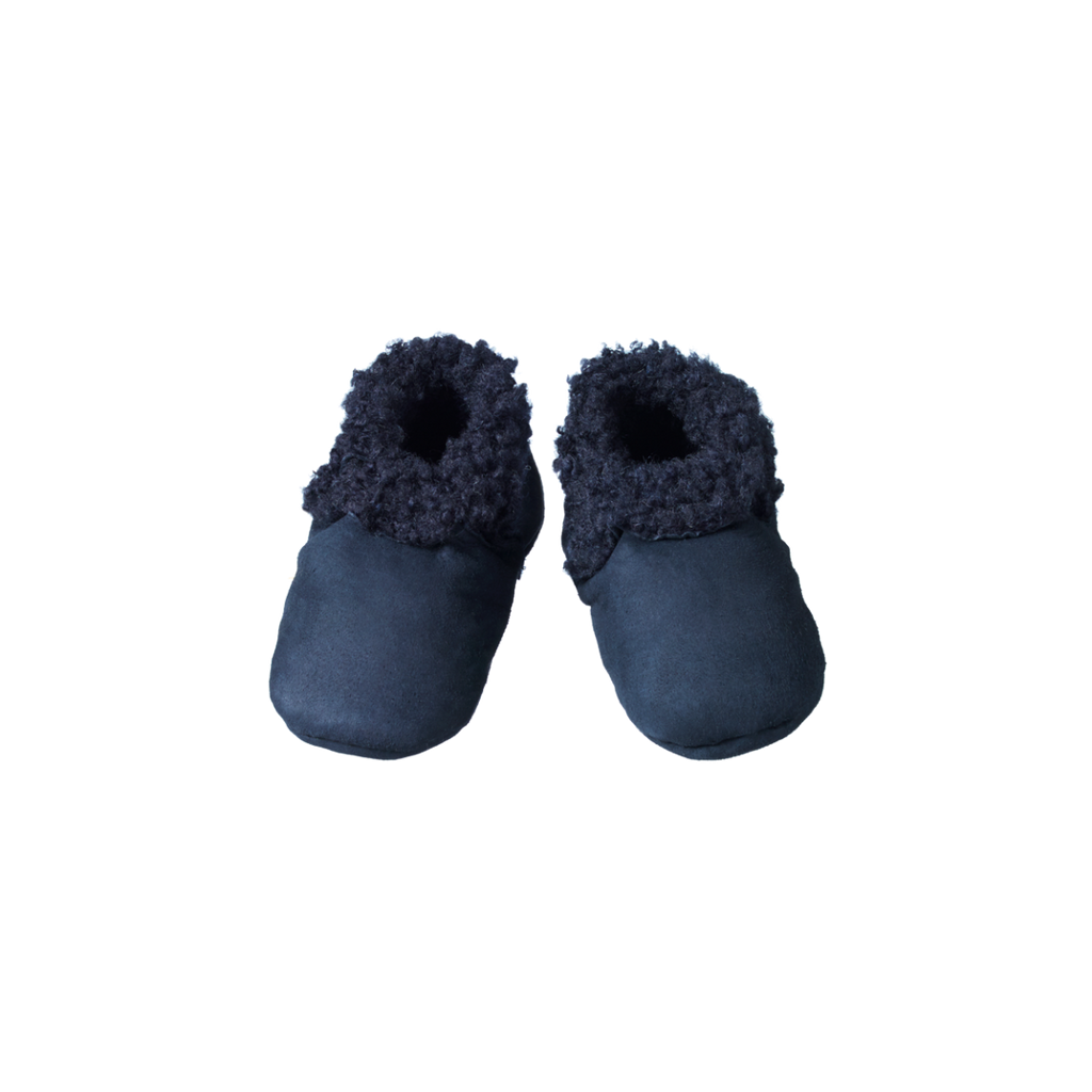 Nature Baby | Lambskin Booties | Navy | White Fox & Co