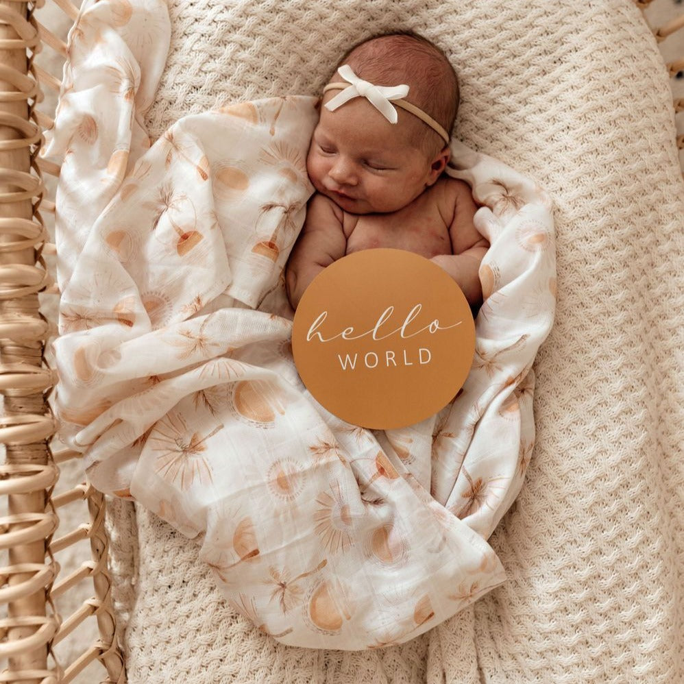 Snuggle Hunny Kids | Milestone Discs | Paradise & Sunset Gold | White Fox & Co