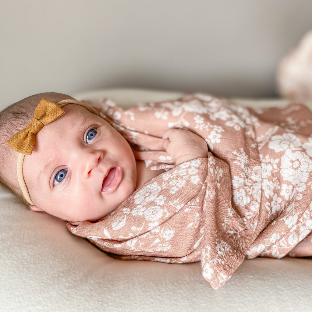 The Mini Scout | Swaddle | Vintage Bouquet | Sienna | White Fox & Co
