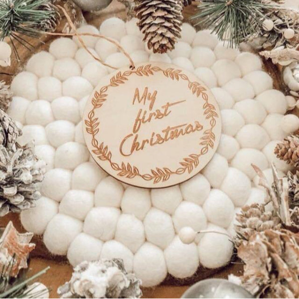 Hello Fern | My First Christmas | Milestone Disc | White Fox & Co