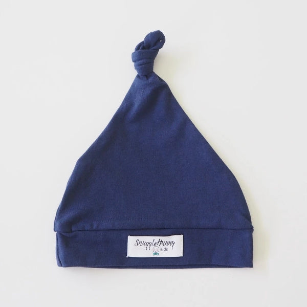 Snuggle Hunny Kids | Knotted Beanie in Navy | White Fox & Co