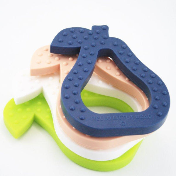 Pear Teether | Navy | My Little Giggles | White Fox & Co